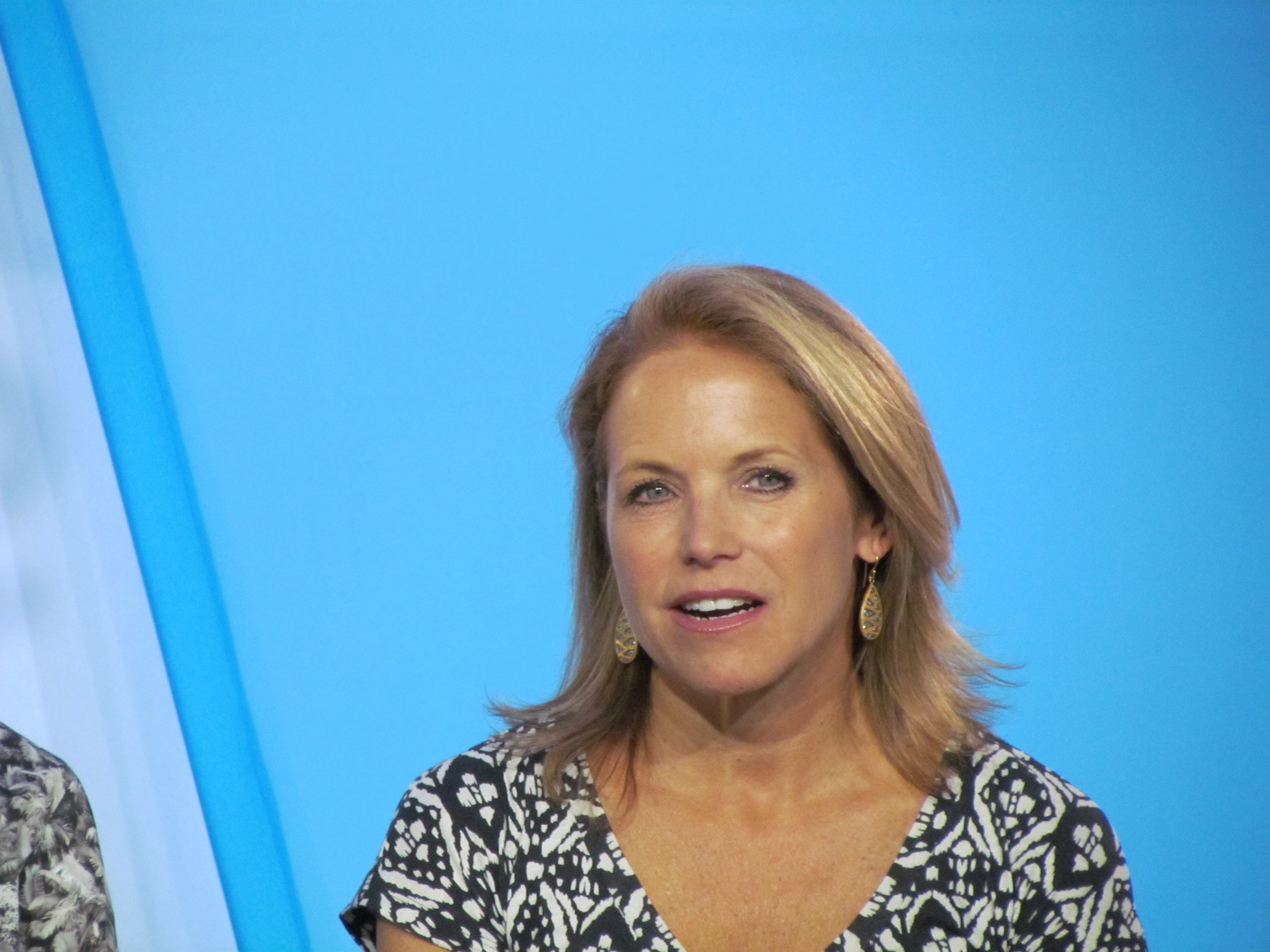 Katie couric pees tv
