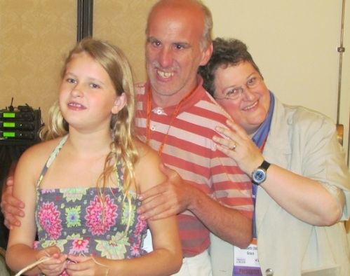 Emma, Mark Utter and Ibby at the ICI Conference - July, 2013