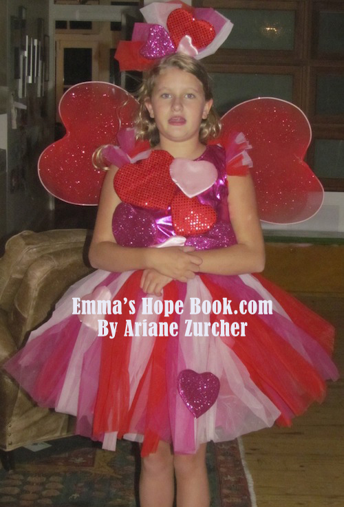 Love.  Just a whole lot of LOVE!  Emma's Halloween Costume ~ The Love Monster