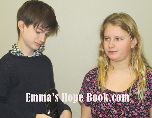 Emma with her friend Henry ~ January 30, 2014