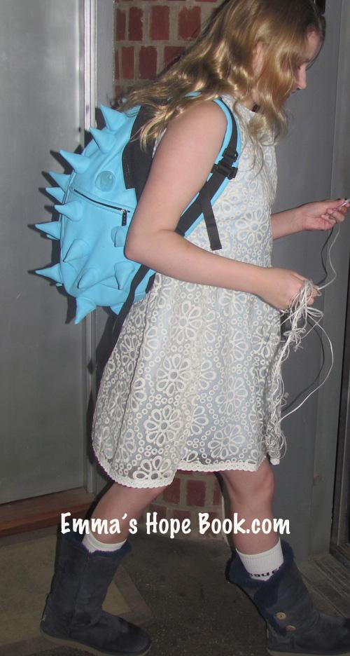 Emma Wears A Pretty Dress To School ~ April 4th, 2014