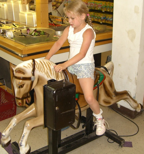 """I asked Emma why she chose this image for today's blog post.  She wrote, """"I was so happy riding the horse and this post makes me happy too!"""""""