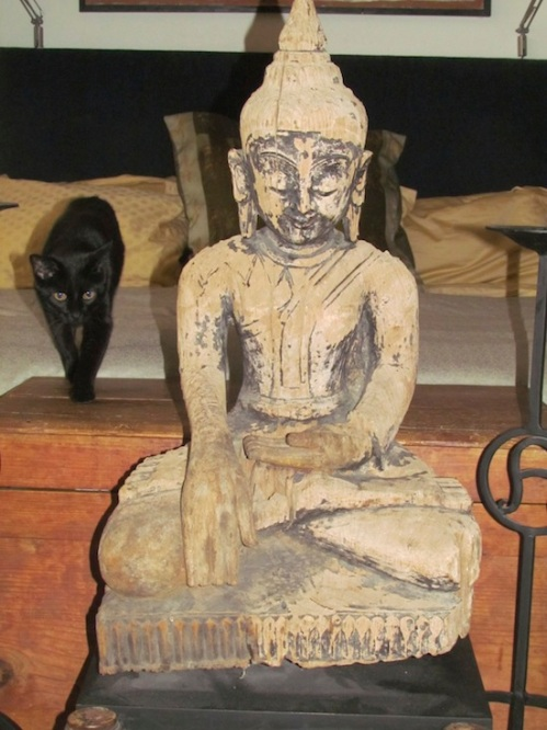 The Buddha with Merlin